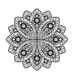 Indian ethnic mandala Ornamental round lace vector image vector image