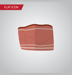 Isolated meat flat icon beef element can vector