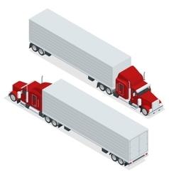 Isometric american show truck tractor vector