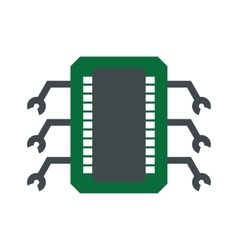 Microchip flat icon vector