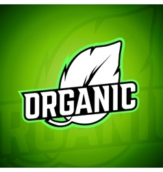 Organic logo background vector