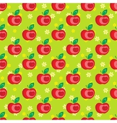Seamless apple background pattern vector