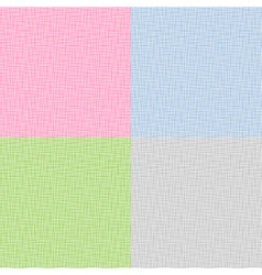 Set of Canvas Texture vector image