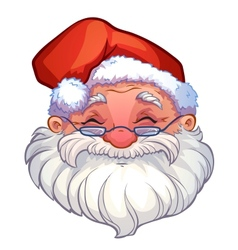 smiling face of santa vector image
