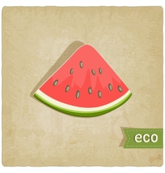 Watermelon eco old background vector