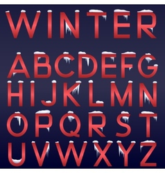 winter alphabet vector image