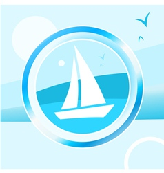Yacht trip vector image