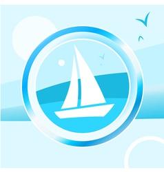 Yacht trip vector