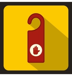 Do not disturb red sign icon flat style vector