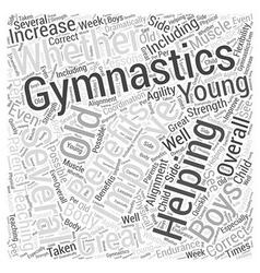 Boys and gymnastics word cloud concept vector