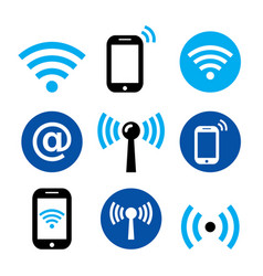 Wifi network wireless internet zone smartphone vector