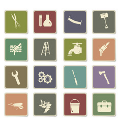 Work tools icon set vector
