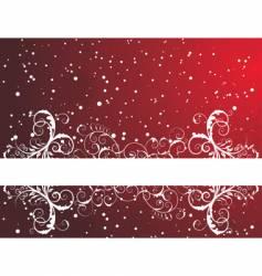 winter frame background vector image