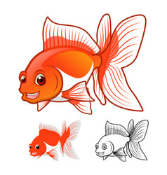 Fantail goldfish vector