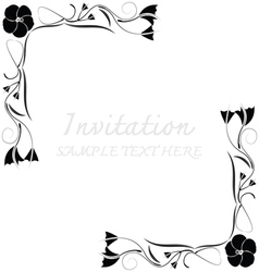 Invitation card with floral pattern vector