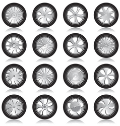 alloy wheels vector image