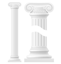 Antique column 01 vector