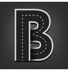 B letter road font vector