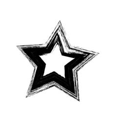 black grunge star vector image vector image