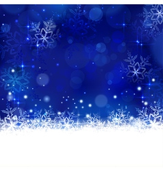 Blue winter Christmas design with vector image