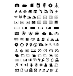 Camera mode icons vector