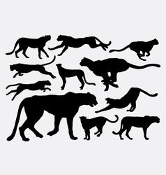 Cheetah wild animal silhouettes vector