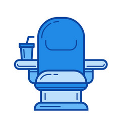 cinema chair line icon vector image vector image