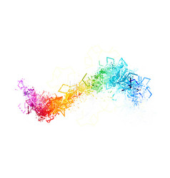 colorful lines on white background vector image vector image