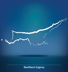 Doodle Map of Northern Cyprus vector image
