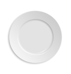 Empty plate Isolated on white background View vector image vector image