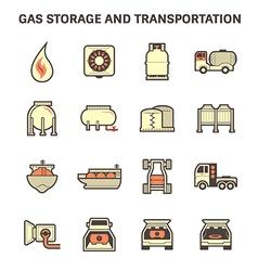 Gas transportation icon vector image vector image