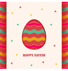 Happy easter card design element vector