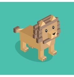 Lion is Brown vector image