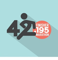 Marathon finisher typography design vector