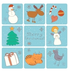 Merry christmas happy companions vector