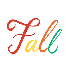 modern brush phrase fall vector image