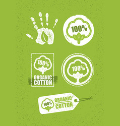 Organic cotton creative concept on grunge rust vector