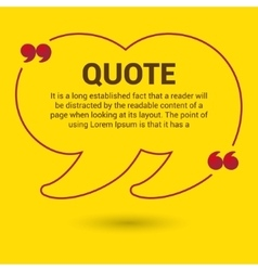 Quotation Bubble Web banner template vector image