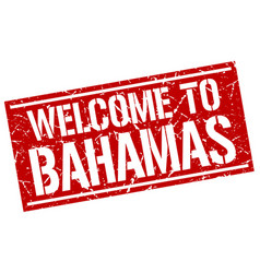 Welcome to bahamas stamp vector