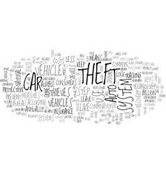 what you can do to prevent auto theft text word vector image vector image