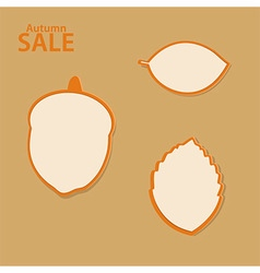 Autumn sale labels collection vector