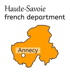 Haute-savoie french department map vector