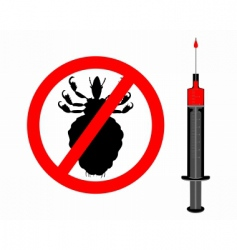 Lice and innoculation icon vector