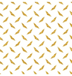 Golden bats background vector