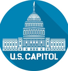 Us capitol icon vector