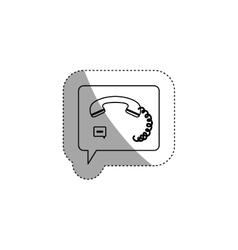 Isolated phone and bubble design vector