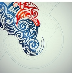 Ornamental swirls abstraction vector