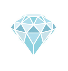 geometrical blue diamond isolated on white vector image