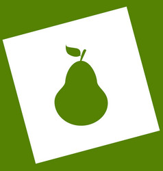 Pear sign   white icon vector