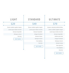 minimalistic modern price list template for the vector image